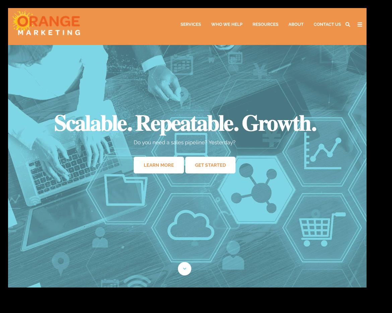 Orange marketing website